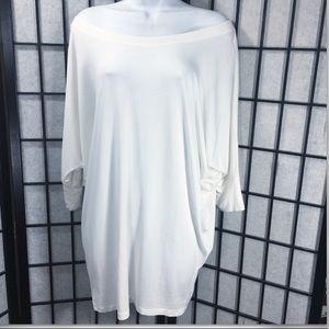 ▫️ TOSKA Off Shoulder Women White Wing Sleeve Top